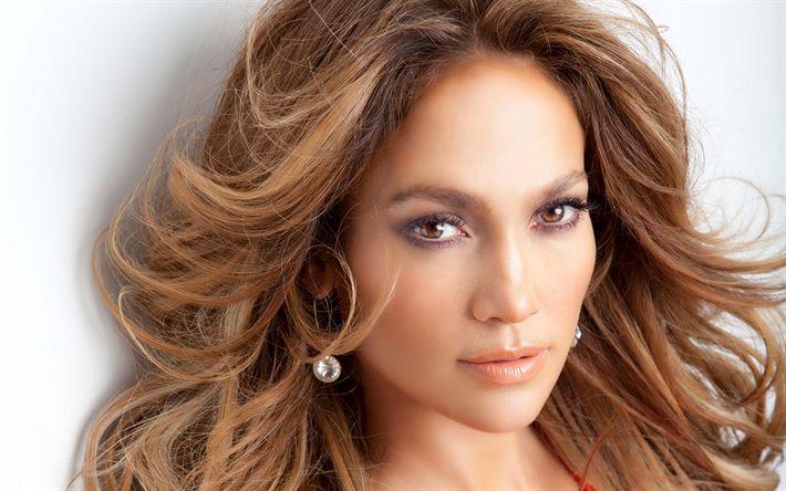 Download wallpapers Jennifer Lopez, photoshoot, portrait, make-up, American singer, USA, 4k