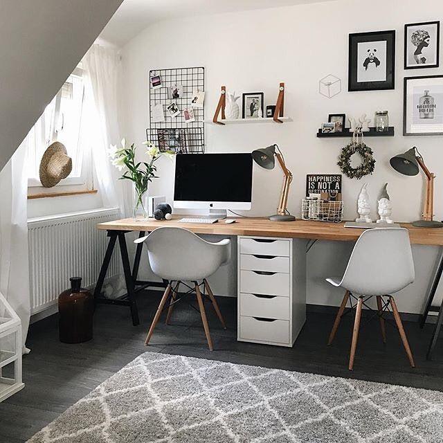 Shared Office Space Ideas For Home Work Kantoor Hoekje Kantoor Aan Huis Decor Slaapkamerideeen