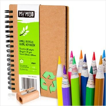 Wonderful for the creative and environmentally aware among us.. doodle and create with this My Mojo mini pack of eco-friendly; recycled newspaper colouring penc