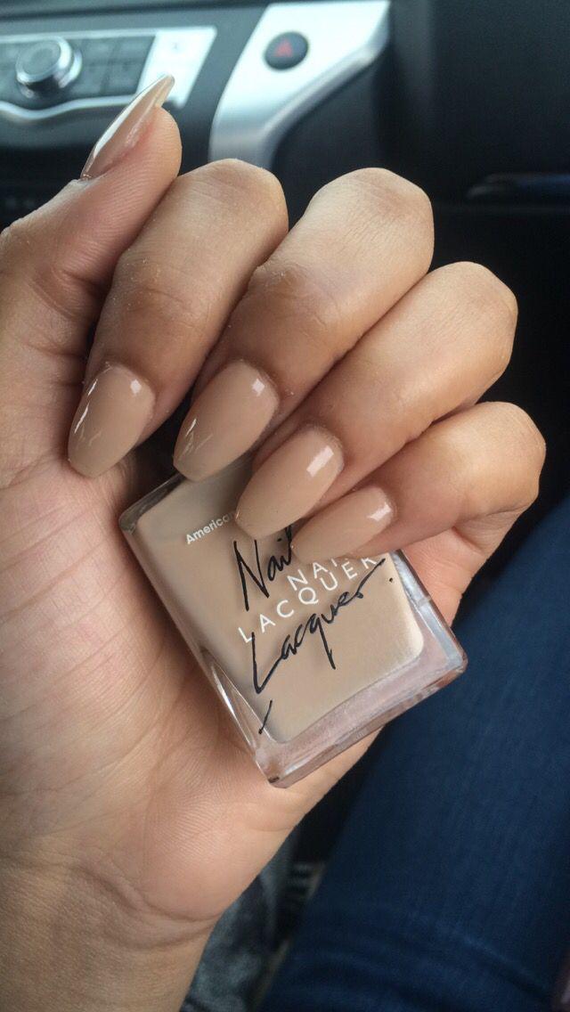 Casket nails nude American apparel pretty