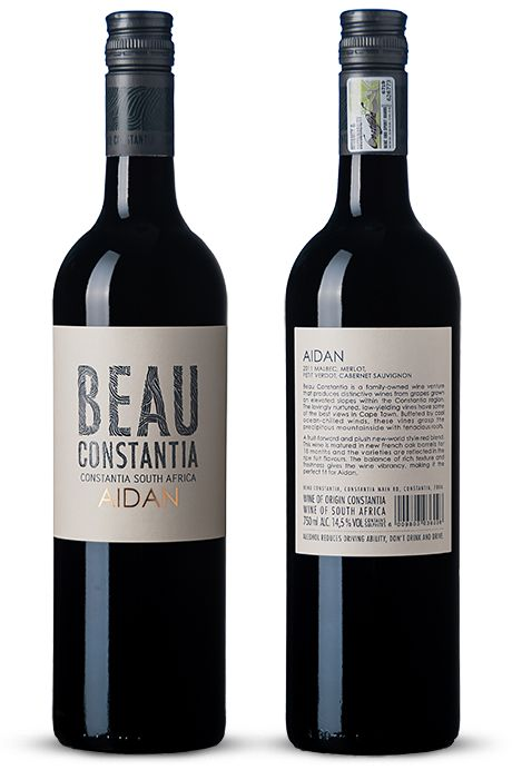 This is the second vintage produced of the Beau Constantia Aidan and the first to include some Shiraz. It is a spicy, fruit-forward and contemporary red blend of 35% Shiraz, 23% Malbec, 23% Petit Verdot and 19% Merlot.