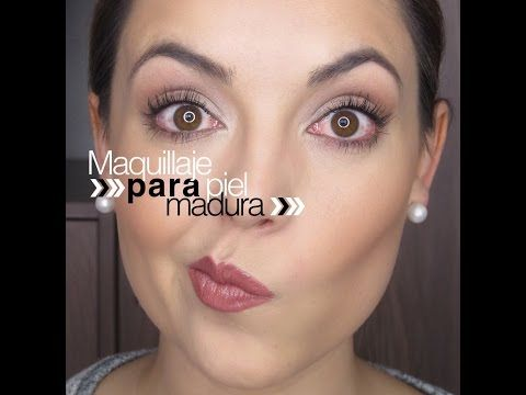 Maquillaje piel madura, consejos para adpatarlo a la edad con los años - YouTube