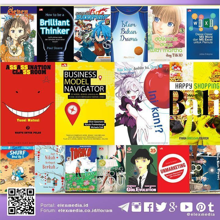 JADWAL TERBIT MINGGU INI: http://j.mp/LX160413  Mari bergabung ke #PortalELEX MEDIA untuk mendapatkan aneka informasi menarik: http://ift.tt/1ZY9fOP  Image: Highlight beberapa judul minggu ini untuk daftar lengkap cek tautan jadwal di atas  #ElexMedia #Gramedia #Buku #Fiksi #Novel #Komik #NonFiksi