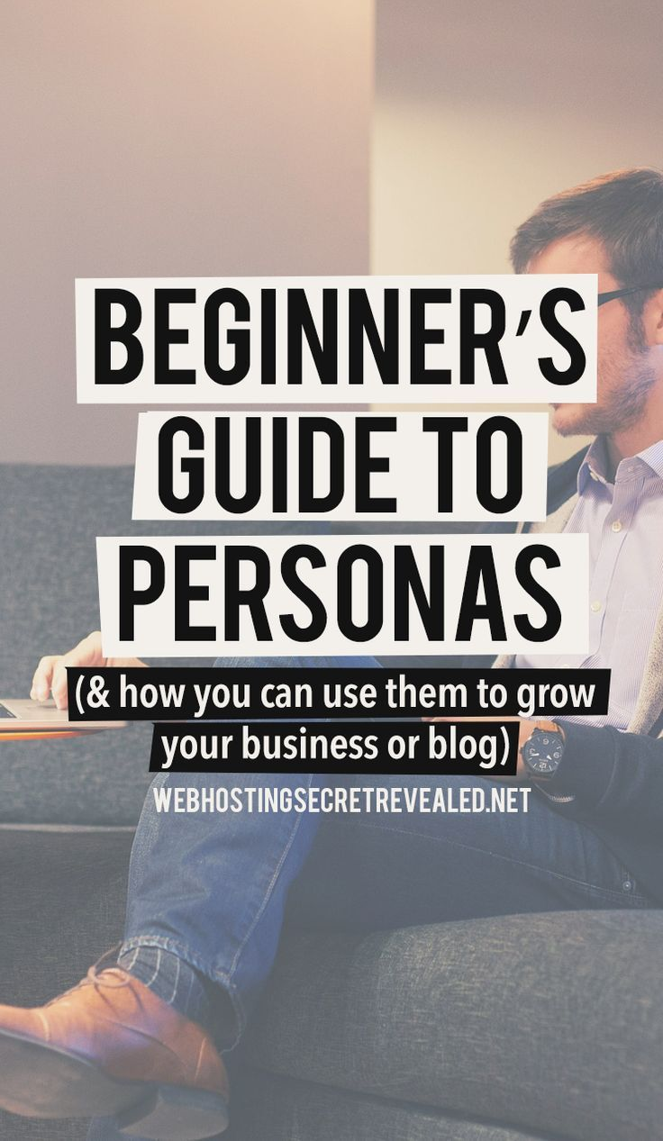 """Beginner's Guide to Personas - Here's another powerful marketing tool for building a blog or business - """"buyer personas"""" or """"reader personas"""". By helping you understand your target audience, personas can make every step of your marketing strategy faster, easier, and more effective."""