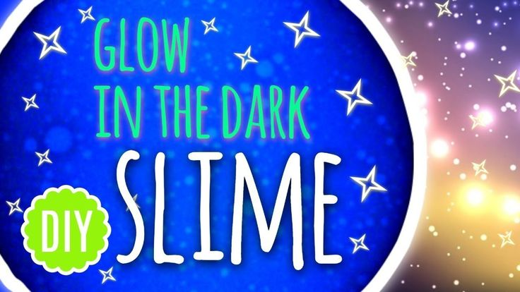 How to make a Glow In the Dark Slime - DIY 2018
