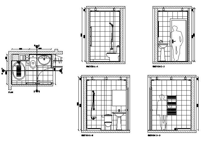 Bathroom Floor Section Detail Drawing Wood Floors