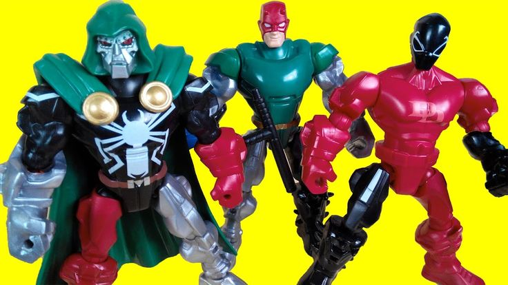 Marvel super hero mashers - Agent Venom, Doctor Doom, Daredevil, Toy for...