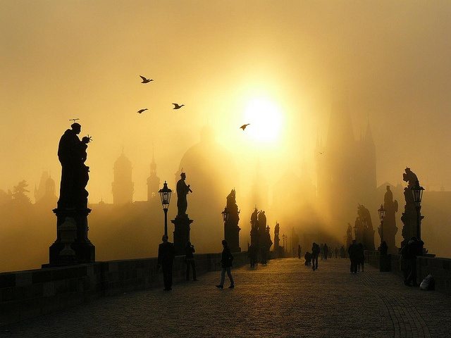 Charles Bridge (Czech Repubic). 'This stunning stone bridge, commissioned by Emperor Charles IV in 1357 and lined with saintly statues, provides an unforgettable passage between Prague Castle and Old Town.' http://www.lonelyplanet.com/czech-republic/prague/sights/bridge/charles-bridge