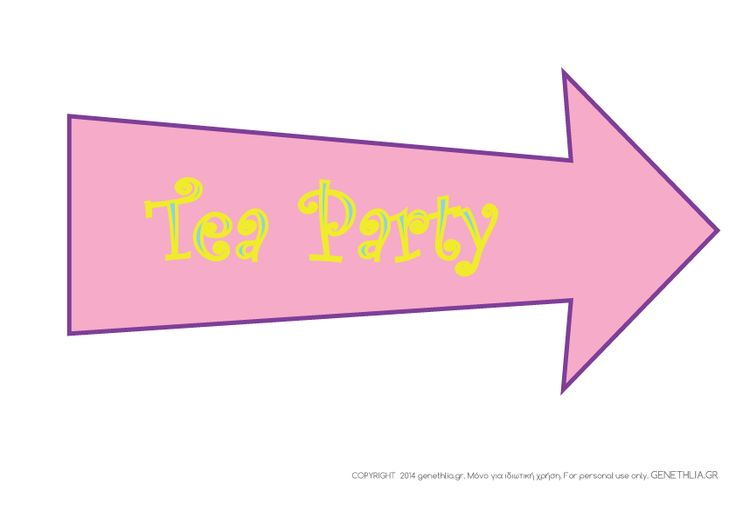Free printables: tea party sign- Alice in Wonderland party ideas...πινακιδα για tea party 3