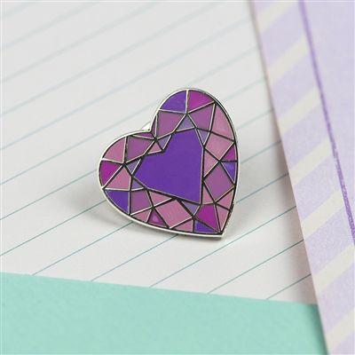 Aren't you a bloomin' gem? Heart Gem Enamel Pin. #pingame #pingamestrong #enamelpin