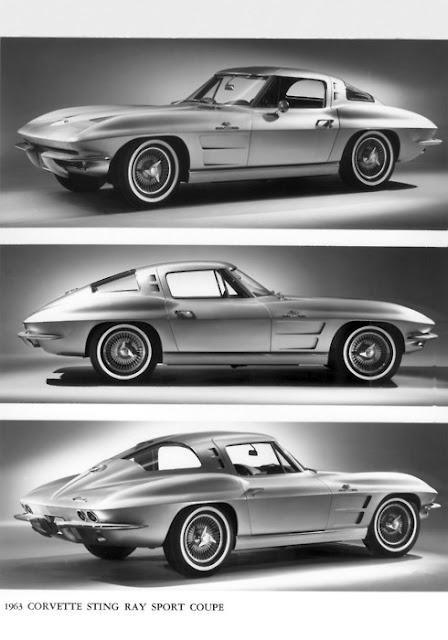 1963 Stingray Corvette with a split back window. So perfect.