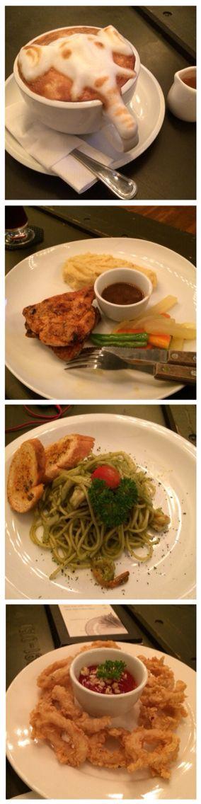 Interesting place, so so food - at MARLO eat & share Jl. Tamblong 48-50 Bandung