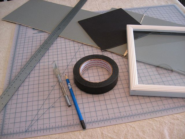 How to make your own Photo Mats. Going to try this using cardboard instead of mounting board.