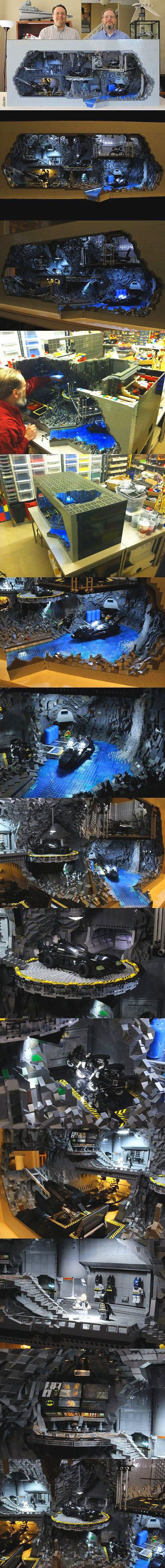 real geeks go all out - This LEGO master recreated Batmans Batcave with 20,000 bricks.