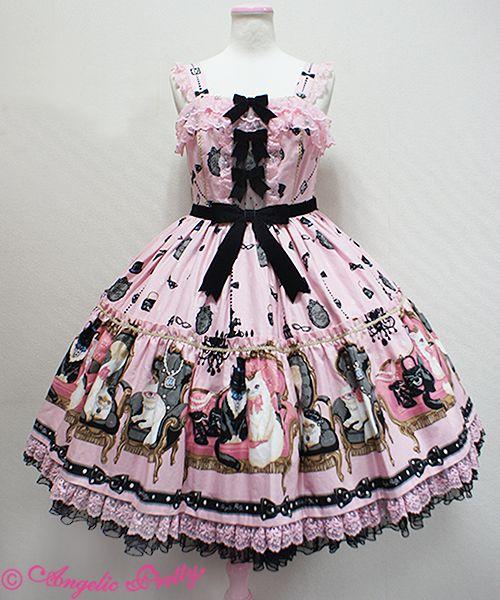Princess Cat Tiered JSK (Pink) - Angelic Pretty