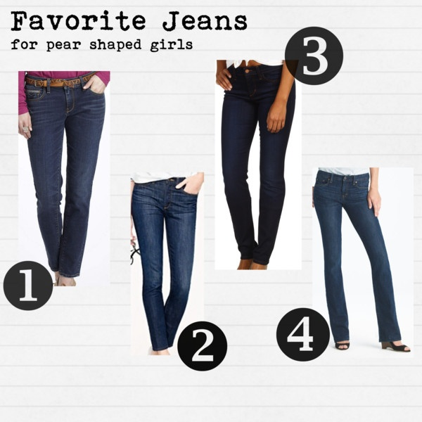 Pear shaped, Pears and Jeans on Pinterest
