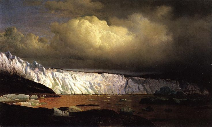 View of Sermitsialik Glacier William Bradford - 1873