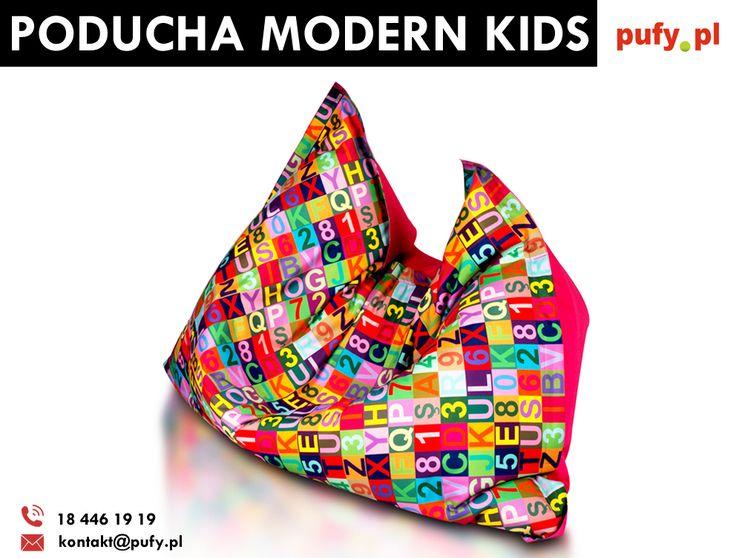 Poducha Modern Kids to najnowszy dodatek do naszej kolekcji. Jest to wszechstronny mebel sako na którym Wasza pociecha będzie mogła swobodzie leżeć, ale również siedzieć!
