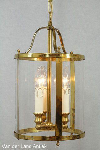 Klassieke lantaarn 26216 bij Van der Lans Antiek. Meer antieke lampen op www.lansantiek.com