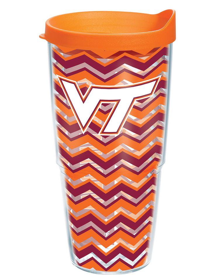 I NEEEEEEEED this!   Virginia Tech Hokies - Chevron Wrap with Lid | 24oz Tumbler | Tervis®