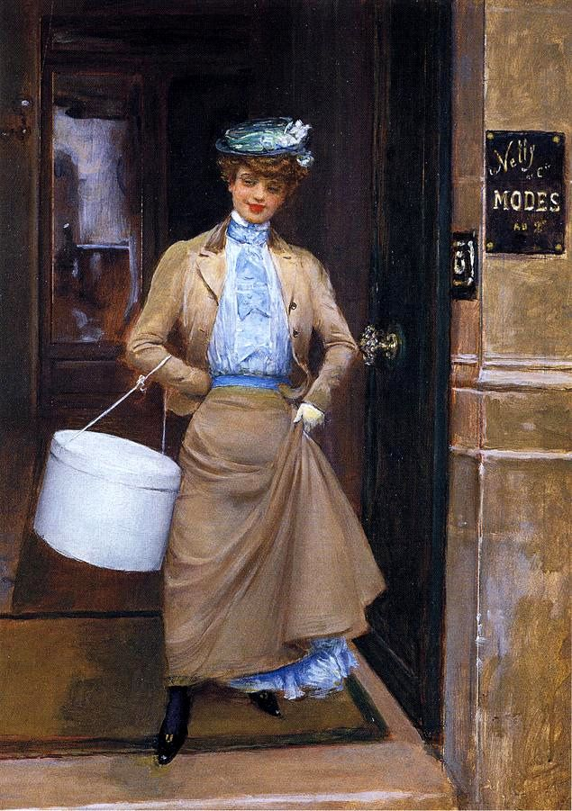 "Paris Le trottin"" 1905 Jean Béraud"
