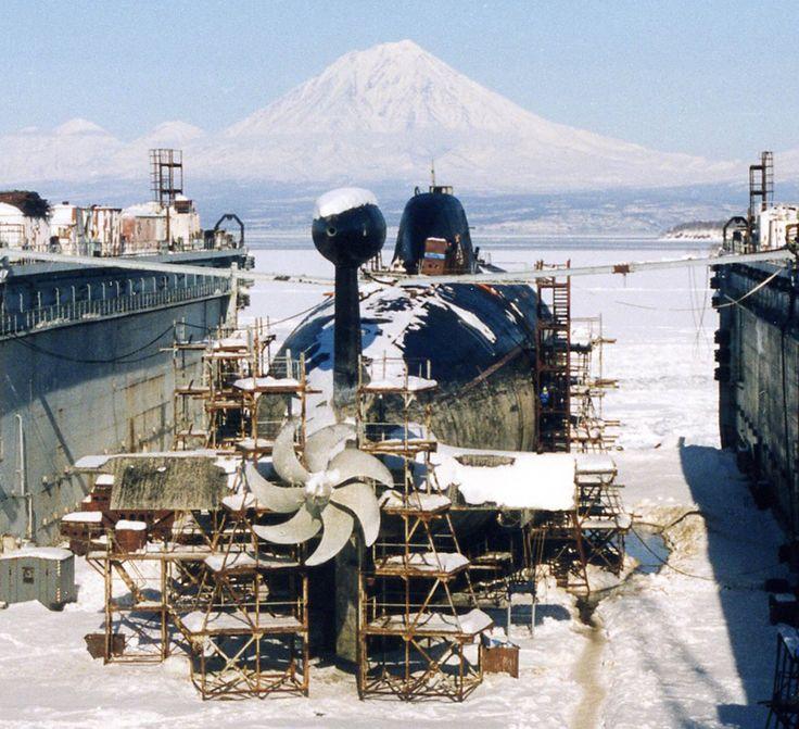 "Project 971 ""Akula."" Rybachiy submarine base, Kamchatka peninsula."