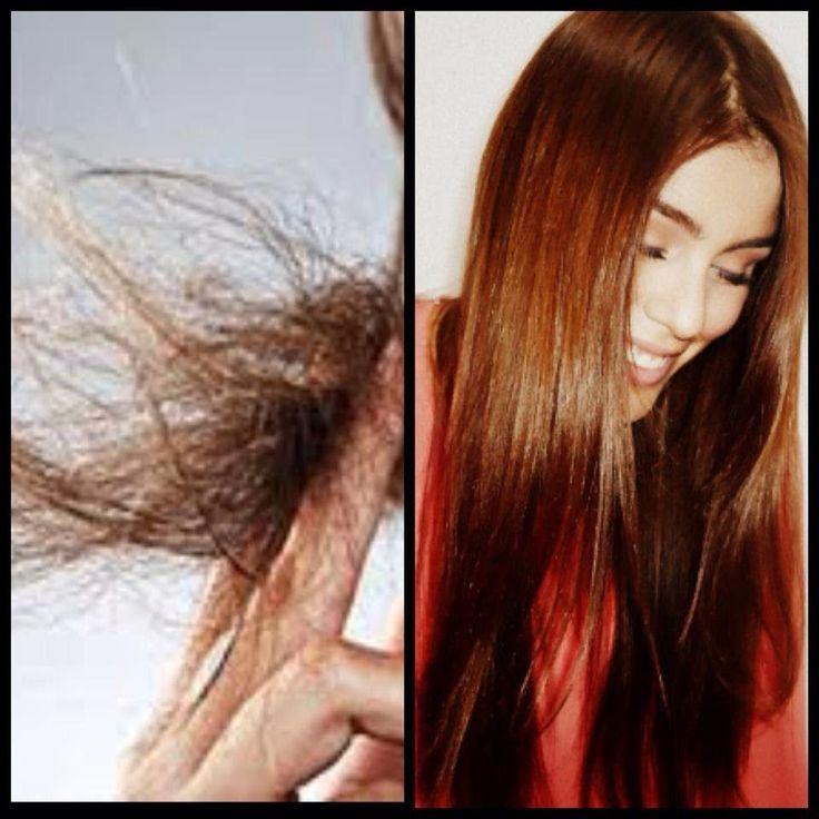 Tratamiento para cabello reseco y puntas abiertas.