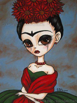 Big Eyed Frida Kahlo