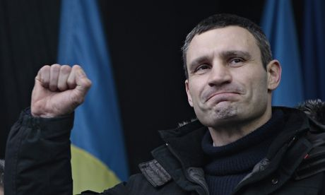 Ukraine's Vitali Klitschko: 'This is a battle and I don't plan to give up easily'  |  As Ukraine's street protests against corruption grow increasingly ugly, the unlikely figure of heavyweight boxer Vitali Klitschko has emerged as a voice for the opposition -- Frightening allies, though - hardcore nationalists with scary beliefs