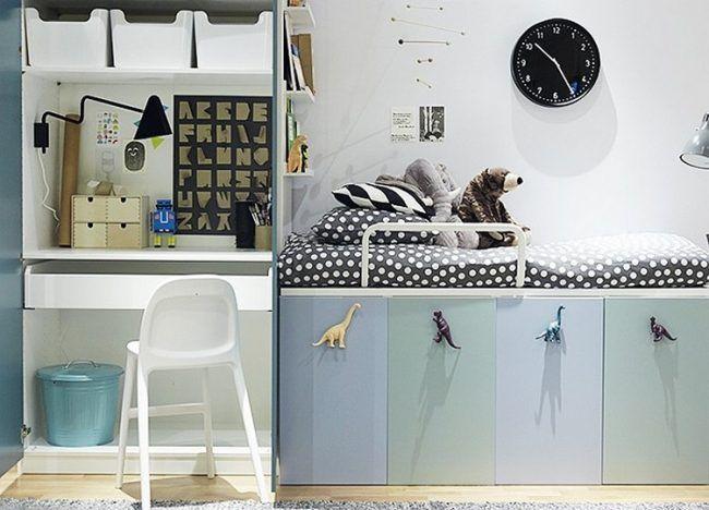 Hochbett Selber Bauen Bett Stauraum Küchenschränke Kinderzimmer Ikea Hack