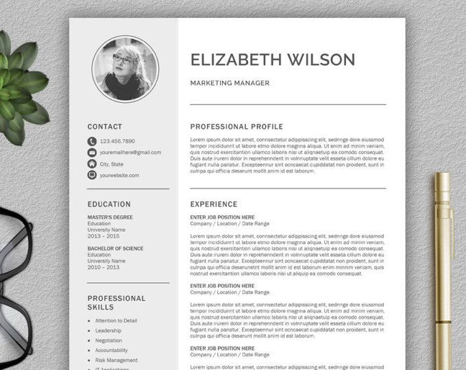resume template cv template cover letter professional resume template for word creative - How Do You Write A Cover Letter For A Resume