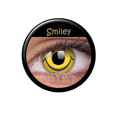 Die passenden Kontaktlinsen sind das absolute I-Tüpfelchen zu jedem Karnevalsoutfit.  #Karneval #Kontaktlinsen #Fasching #Karnevalsidee #Smiley