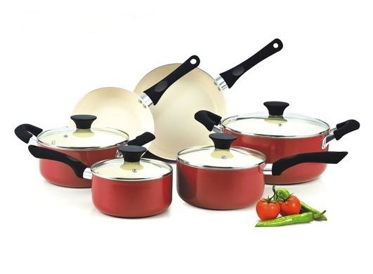 Cookware Sets Pots And Pans Set Culinary Casseroles Saucepans 6 Pcs Aluminum This lovely coloured Cookware Pots & Pans Set has non-stick ceramice coating, free of PTFE,PFOA, Cadmium & Lead free Non stick performance and scratch resistance. Anti-slip and cool Handles. Tempered glass lids makes viewing food easy from start to finish. Includes: one(1) Dutch oven 6 quart and lid, one(1) Casserole 3 quart and lid, one(1) Sauce pan 1 quart with lid, one(1) Sauce pan 2 quart with lid, one(1) small…