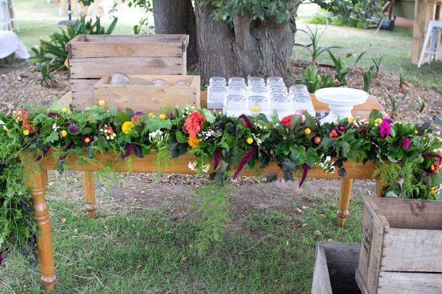 { Naomi Rose Floral Design } Boho wedding | Floral garland | Wedding | Tipi wedding | Bar decoration