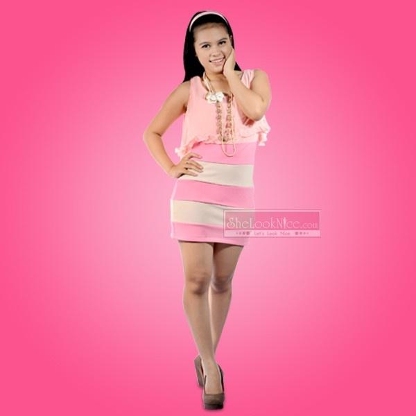 Mini Dress Tumpuk Salur Rp 149.000  Hub : TokoKawan.com / 0898 237 56 19