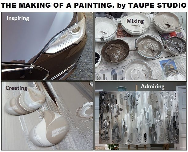 17 best images about schilderijen abstract taupe on pinterest studios 50 shades and taupe - Taupe schilderij ...