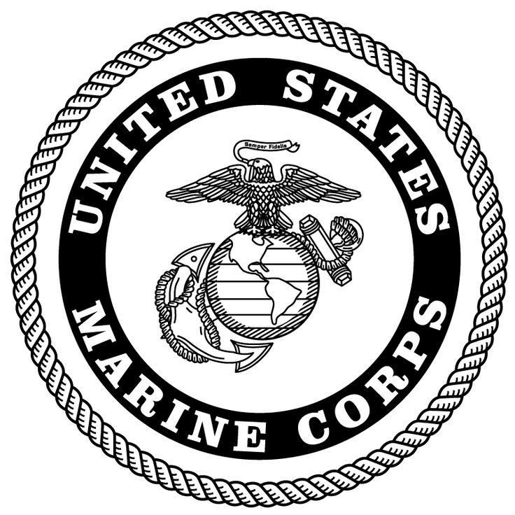 Image result for black and white marine corp logo United