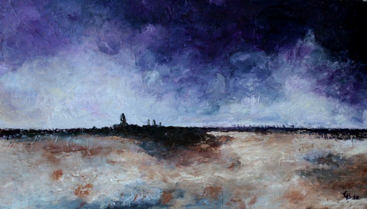 ciel breton, huile  45x70