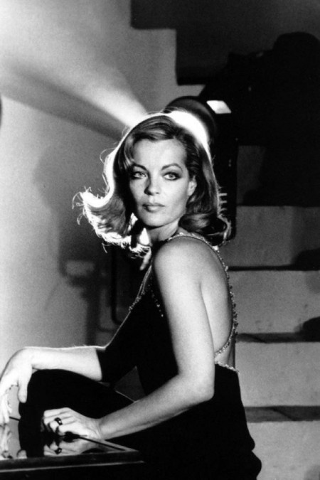 Romy Schneider in Paris, 1974.