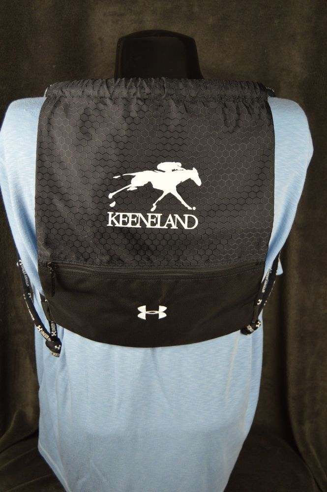 """Under Armour Keeneland Racetrack Black Backpack Nylon 16"""" x 14"""" FREE SHIPPING #UnderArmour #keeneland"""