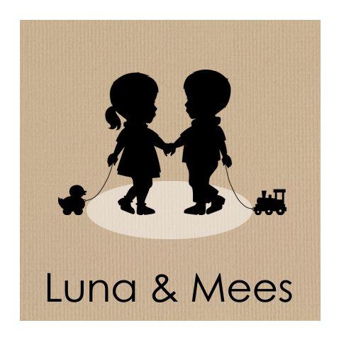 Silhouetten geboortekaart voor alle combinaties jongens-meisjes verkrijgbaar, http://www.jillejille.nl/geboortekaartjes-tweeling