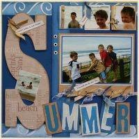 Summer scrapbook spread
