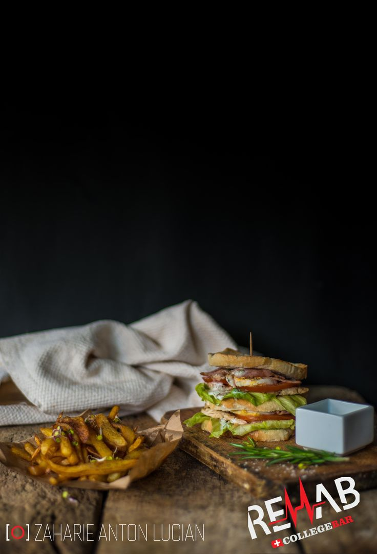 sandwich with french fries