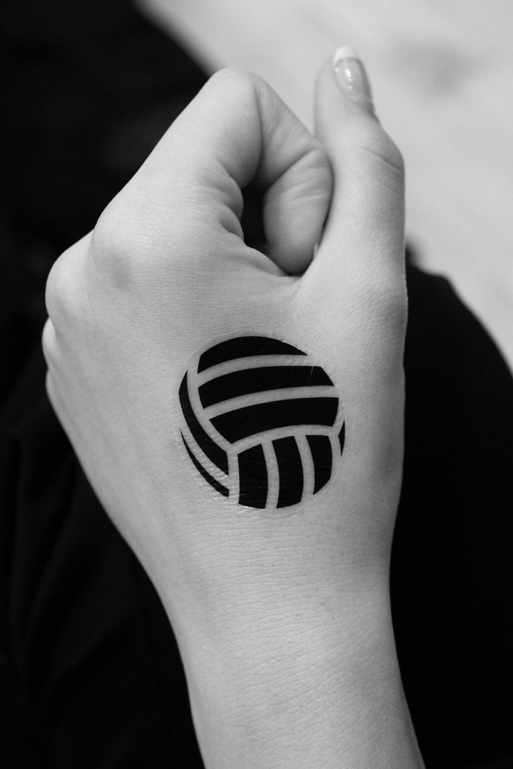 Temp volleyball tattoo that I made for the team!