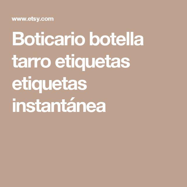 Boticario botella tarro etiquetas etiquetas instantánea