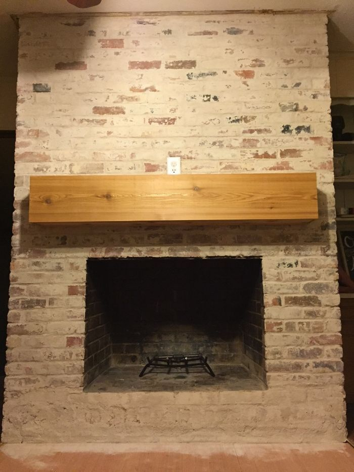 How To: Mortar Wash (German Smear) a Brick Fireplace (Updated May 2016)