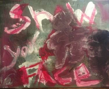 "Saatchi Art Artist Dan Caissie; Painting, ""Show Your Face"" #art"