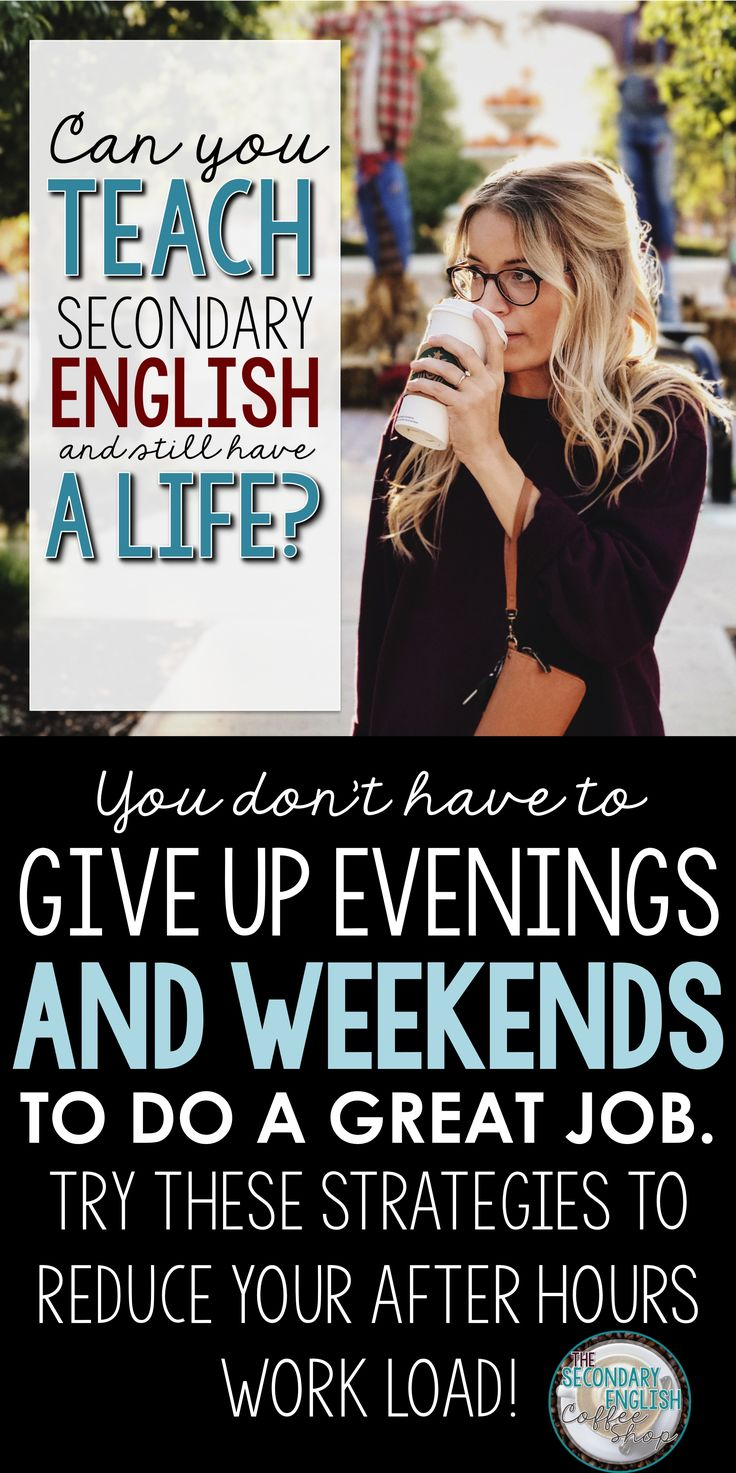"Middle and high school English teachers: you DON""T have to sacrifice all of your evenings and weekends to move your students forward. Check out these strategies and reclaim your me-time."