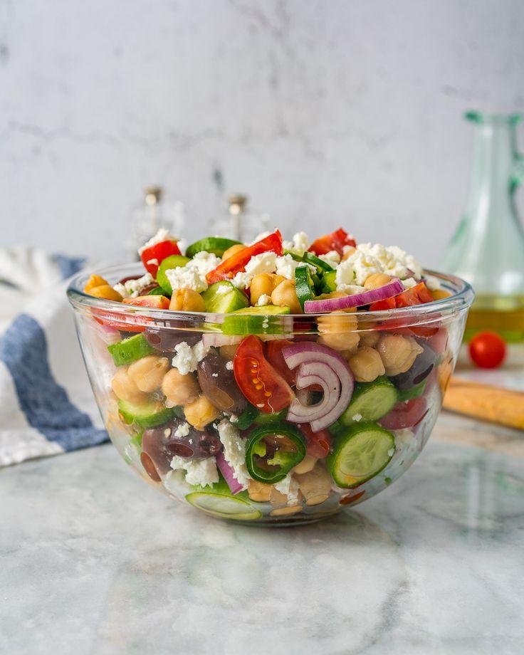Loaded Greek Chickpea Salad – Mediterranean Inspired Dishes