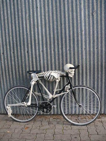 Skeleton Bicycle - ride till you die